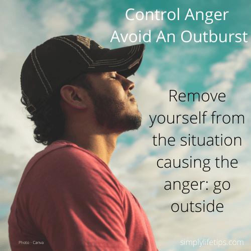 Avoid An Outburst Of Anger