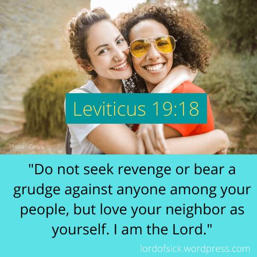 Leviticus 19_18 Bible Verses Grudge Love