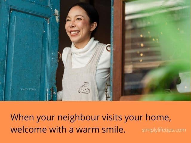 Warm welcome - duty towards neighbour