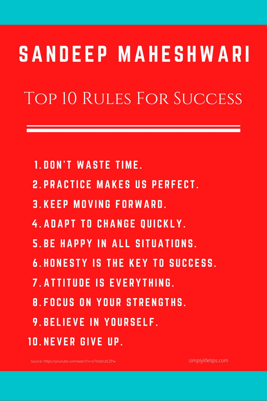Sandeep Maheshwari Success Rules