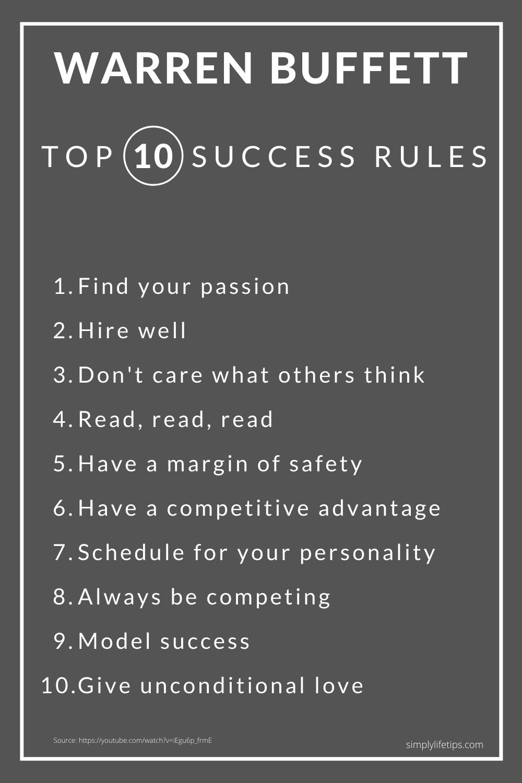 Warren Buffett Success Rules