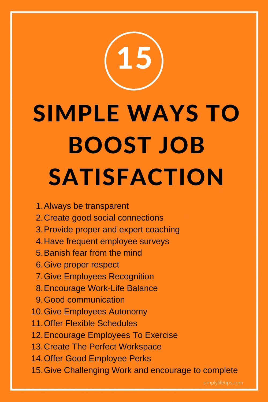 Boost Job Satisfaction