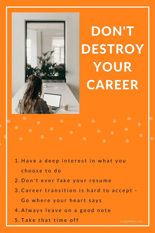 Destroy career