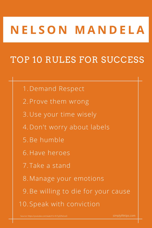 Nelson Mandela Success Rules