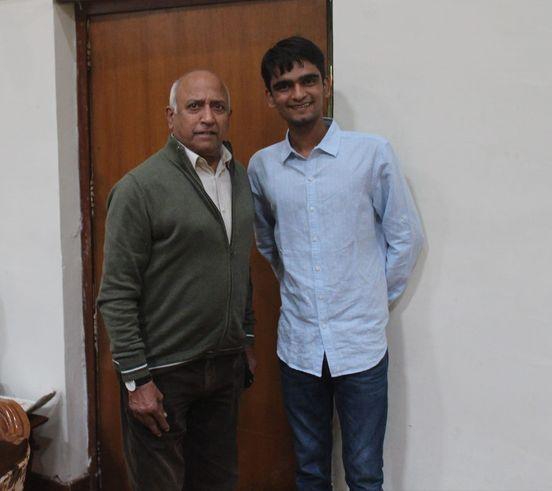 Aryan Mishra Astronomer With Cosmonaut Rakesh Sharma