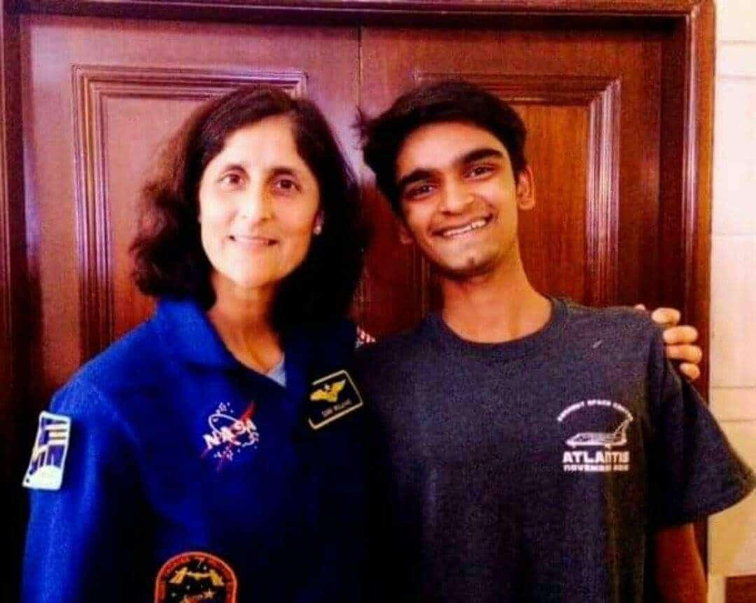 Aryan Mishra with NASA Astronaut Sunita Williams
