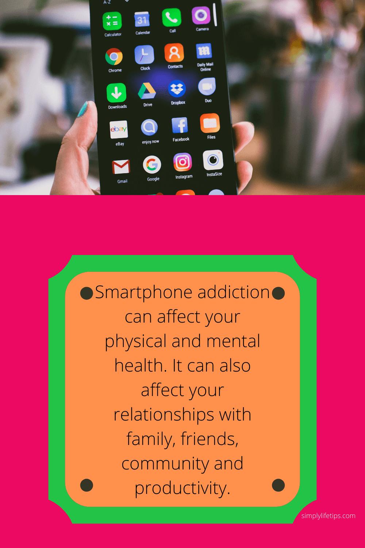 Smartphone addiction social media
