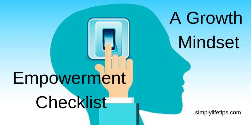 Empowerment Checklist - A Growth Mindset