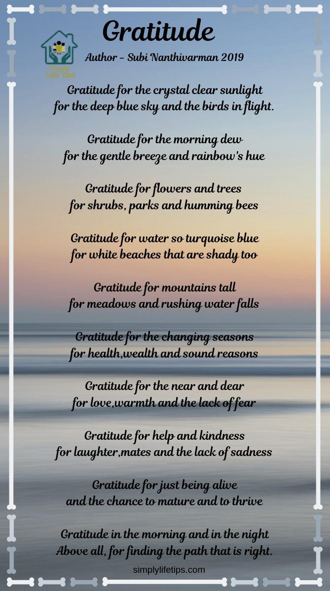 Gratitude Poem