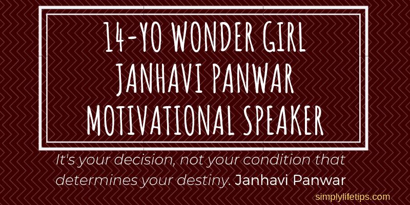 14-YO Wonder Girl Janhavi Panwar | Motivational Speaker