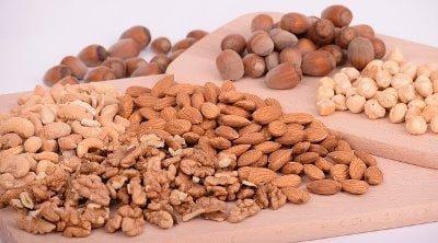 Nuts, Almonds, Walnuts