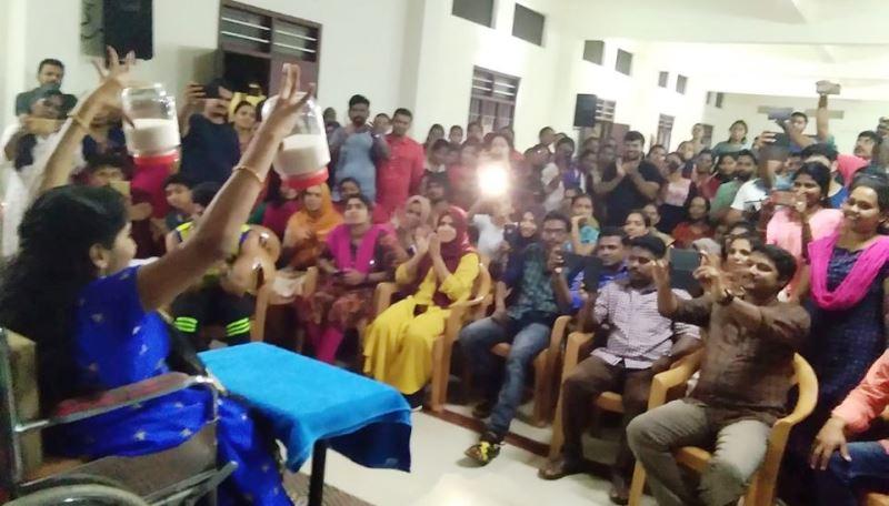 Anju Jar Lifting Audience