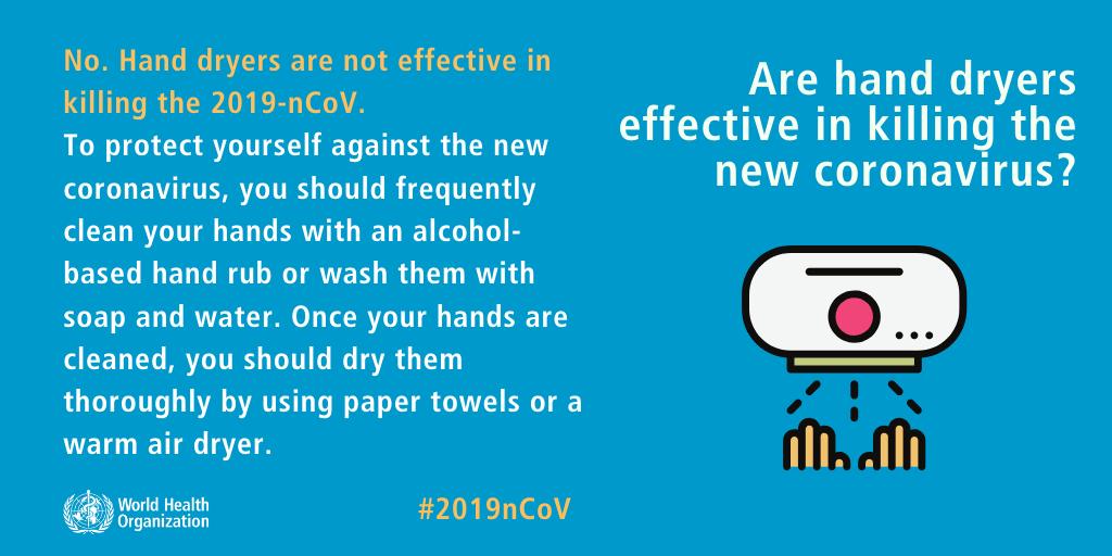 coronavirus covid-19 hand dryer