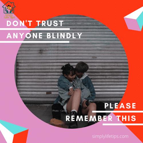 Teenage Girls - Don't Trust Anyone Blindly