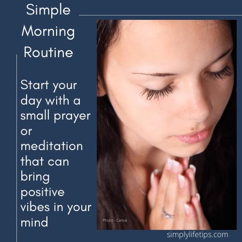 Morning Prayer Meditation Morning routine