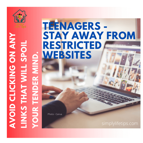 Teenagers Stay Away From Restricted Websites
