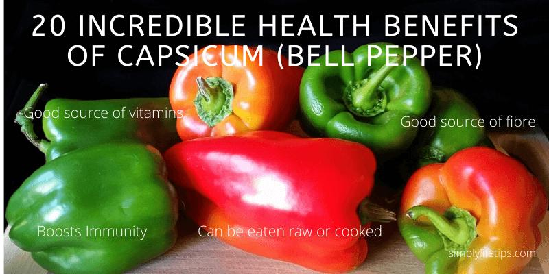 Health Benefits Of Capsicum (Bell Pepper) Health Benefits Of Capsicum (Bell Pepper)