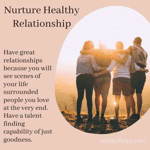 Nurture Healthy Relationship - Self-Care Practice