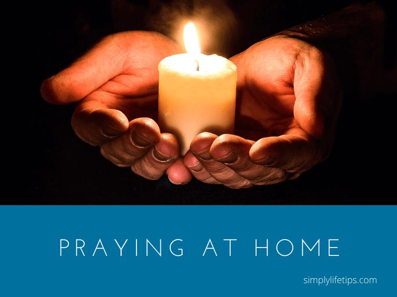 Praying At Home Candle