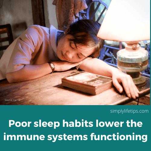 Sleep deprivation Immunity Habits Damage Immunity