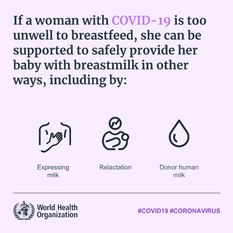 WHO COVID-19 Pregnant Tips Breastfeeding