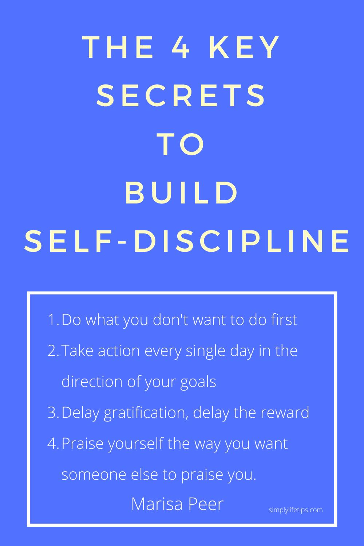 The 4 key secrets to build self-discipline - Marisa Peer