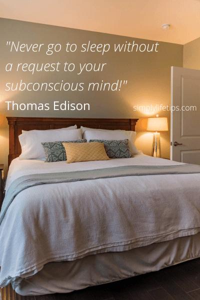 Thomas Edison Quote Subconscious Mind