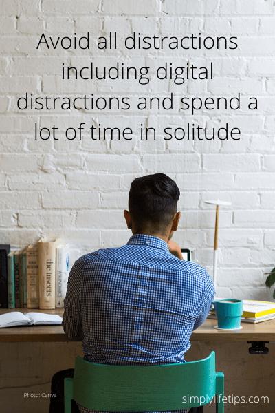 Solitude digital distractions genius