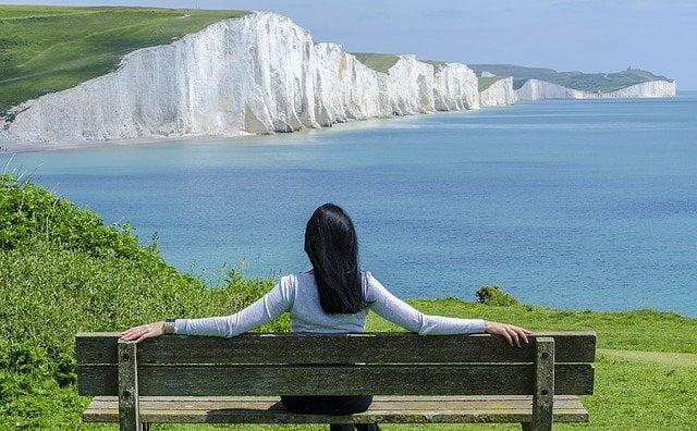 woman enjoying vacation