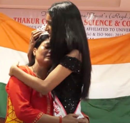 Many Singh hug her loving Mother