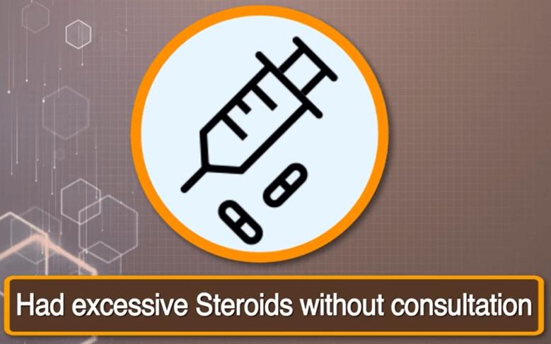 Steroids risk Black fungus