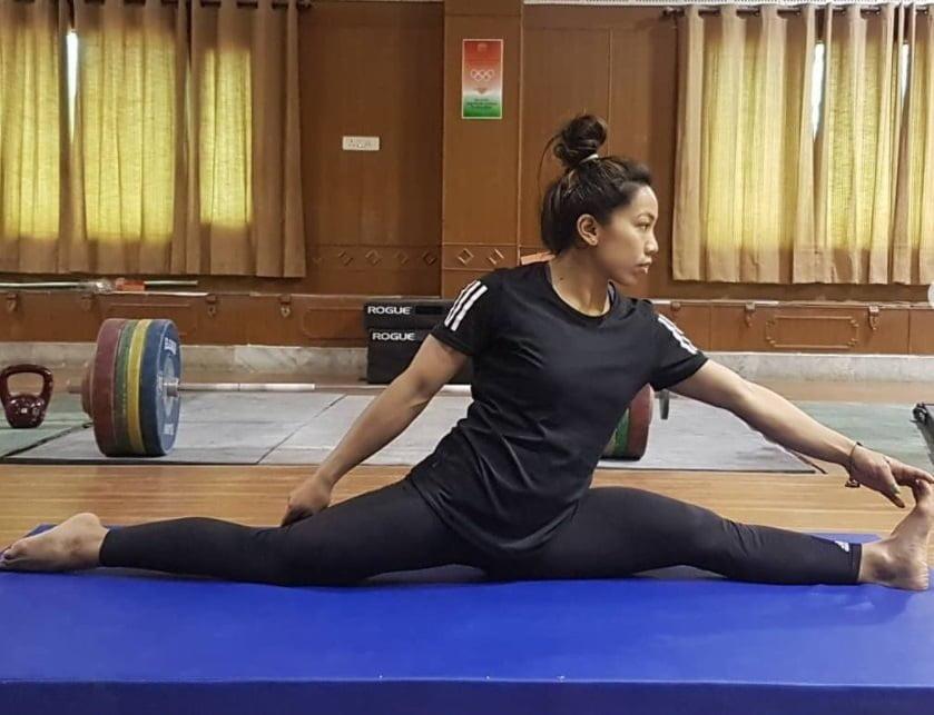 Stretching Exercise Mirabai Chanu